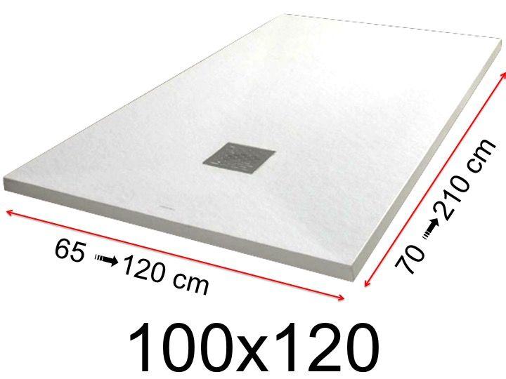 Receveurs de douches toutes tailles receveur de douche 100x120 cm 1000x1200 mm en r sine - Receveur de douche 70x100 ...