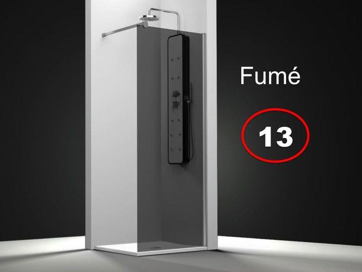 Paroi de douche longueur 50 paroi de douche fixe 50 x - Paroi douche sur mesure castorama ...