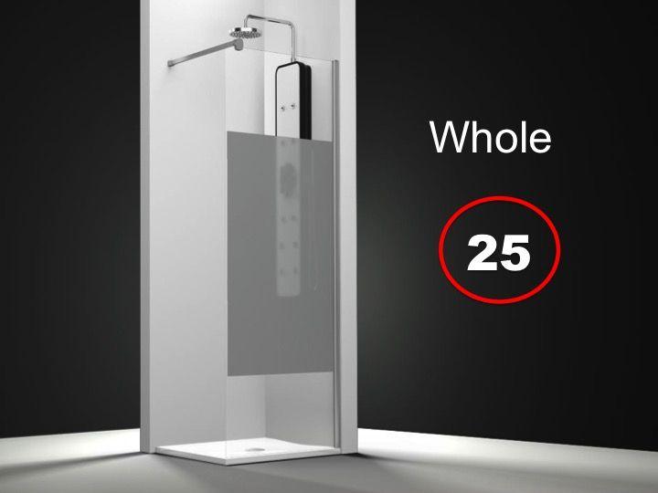 Paroi de douche longueur 70 paroi de douche fixe 70 x for Parois douche sur mesure
