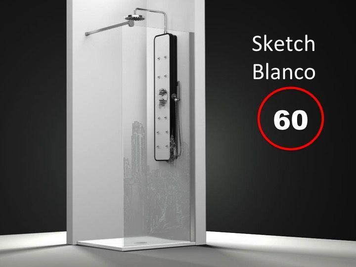 paroi de douche longueur 70 paroi de douche fixe 70 x 195 cm sur mesure verre securit de 6mm. Black Bedroom Furniture Sets. Home Design Ideas