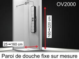 Paroi de douche largeur 90 cm 90x180 90x185 90x190 - Paroi de douche fixe 90 ...
