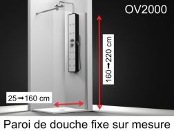 paroi de douche largeur 130 cm pour salle de bain. Black Bedroom Furniture Sets. Home Design Ideas