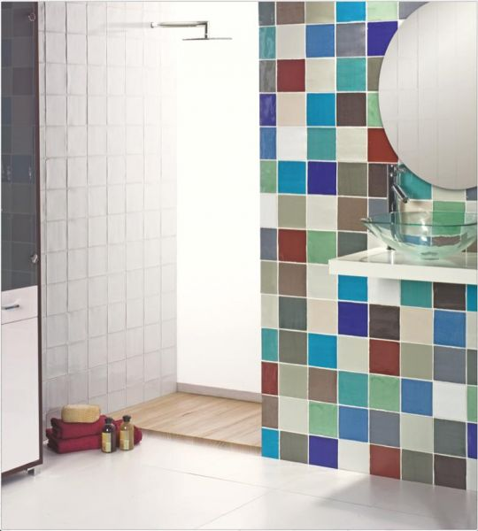 Carrelage mural salle de bain 10x10 for Stickers carrelage cuisine 15x15