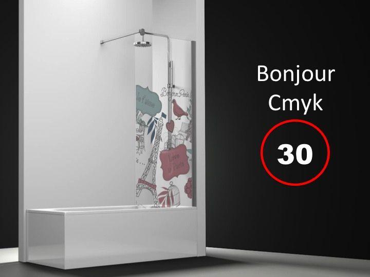 paroi de douche longueur 50 pare baignoire fixe 50 x 150 cm sur mesure verre securit de 6mm. Black Bedroom Furniture Sets. Home Design Ideas