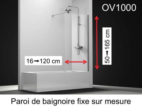 Paroi De Douche Longueur 85 Pare Baignoire Fixe 85 X 150 Cm Sur