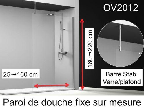 paroi de douche traitee anti calcaire