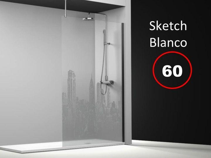 paroi de douche longueur 60 paroi de douche fixe 60x195. Black Bedroom Furniture Sets. Home Design Ideas