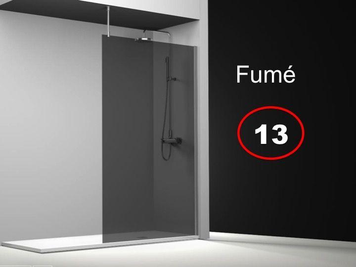 paroi de douche longueur 150 paroi de douche fixe 150x195 cm sur mesure barre stabilisatrice. Black Bedroom Furniture Sets. Home Design Ideas