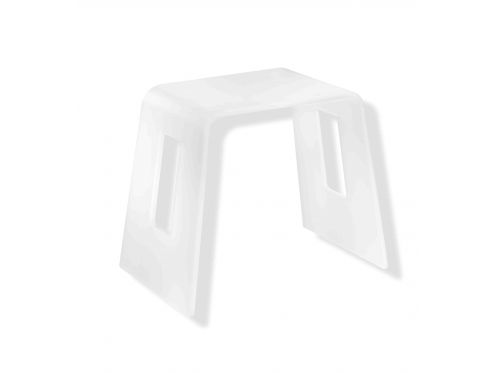 tabouret de salle de bain design tabouret de douche en bois en corian avec rangement blanc with. Black Bedroom Furniture Sets. Home Design Ideas