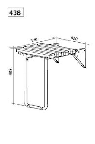 radiateur s che serviettes pmr accessoires si ge douche pmr relevable avec pied rentrant articul. Black Bedroom Furniture Sets. Home Design Ideas