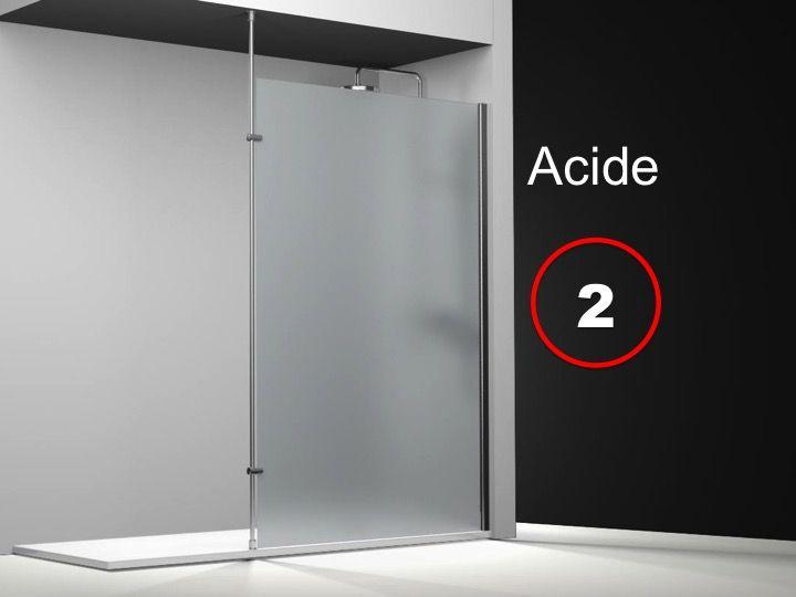 Paroi de douche longueur 160 paroi de douche fixe - Paroi de douche en verre sur mesure ...