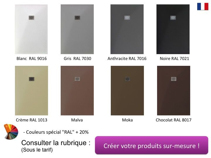 receveur de douche 120x120 cm 1200x1200 mm en r sine min rale extra plat pierre blanc. Black Bedroom Furniture Sets. Home Design Ideas