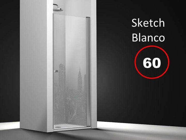 Paroi de douche longueur 65 porte de douche 65 x 195 cm sur mesure pivotante int rieur et - Porte de douche sur mesure ...