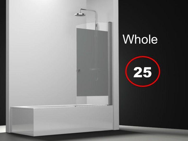 paroi de douche longueur 50 paroi de baignoire 50 x 195 cm sur mesure pivotante int rieur et. Black Bedroom Furniture Sets. Home Design Ideas