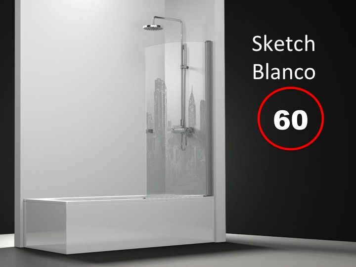 Paroi de douche longueur 60 paroi de baignoire 60 x 195 for Baignoire profondeur 60 cm