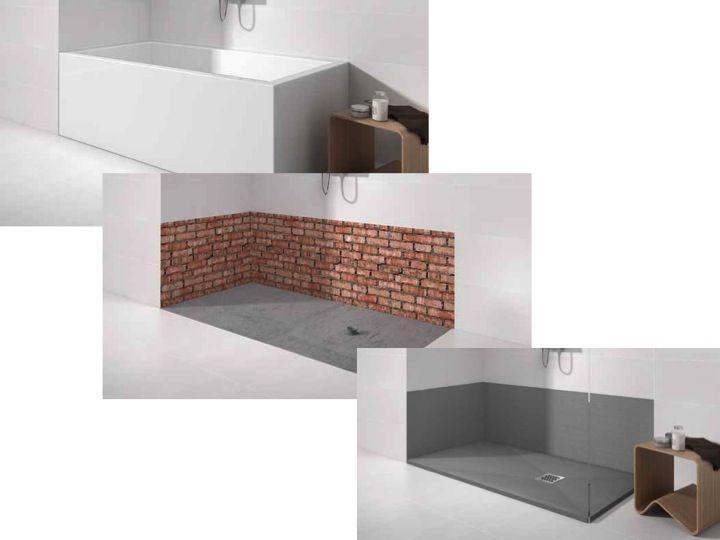 Receveurs de douches panneaux et plinthes panneaux for Resine mur salle de bain