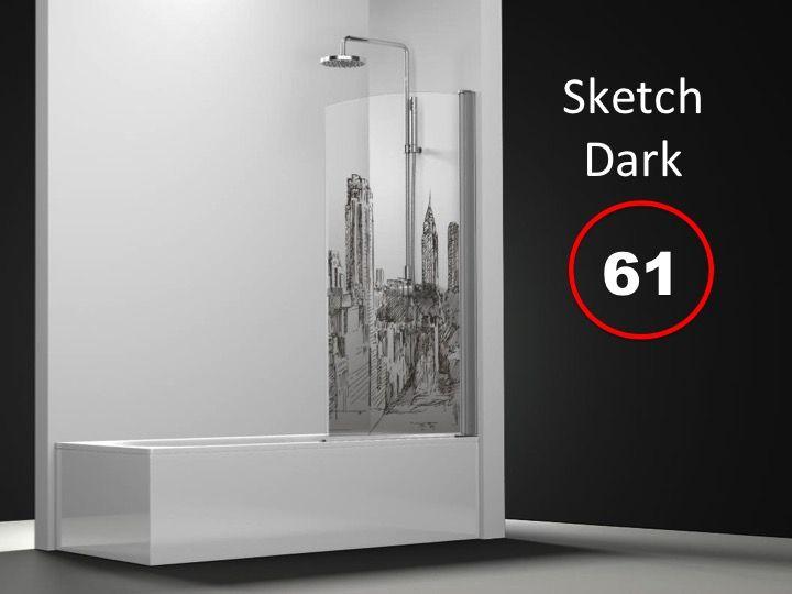 paroi de douche longueur 70 paroi de baignoire 70 x 195 cm sur mesure pivotante int rieur et. Black Bedroom Furniture Sets. Home Design Ideas