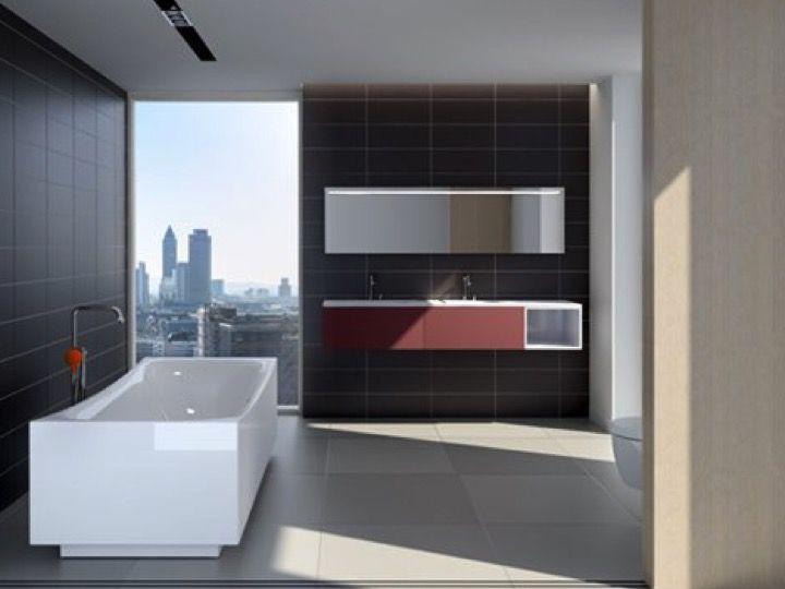 meuble de salle de bains de grande taille sur mesure hammock 1100 blanc brillant clou. Black Bedroom Furniture Sets. Home Design Ideas