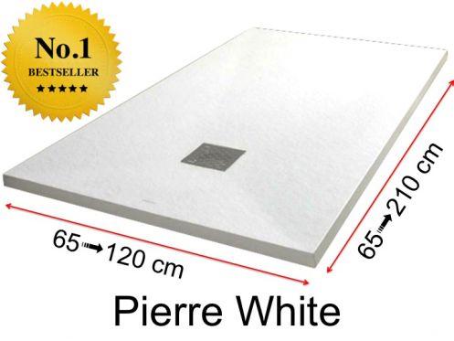 receveur de douche en r sine sur mesure 200 cm petite taille et grande dimension extra plat. Black Bedroom Furniture Sets. Home Design Ideas