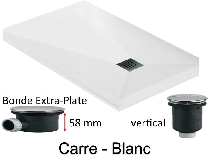 receveurs de douches longueur 120 receveur de douche extra plat 120 cm bonde extra plate 58mm. Black Bedroom Furniture Sets. Home Design Ideas