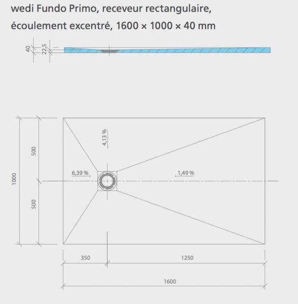 receveur de douche carreler de forme rectangulaire. Black Bedroom Furniture Sets. Home Design Ideas