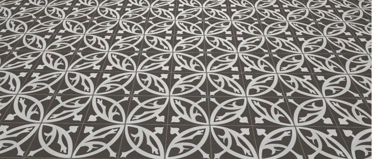 zelie noir 20x20 carrelage de sol aspect carreaux de. Black Bedroom Furniture Sets. Home Design Ideas