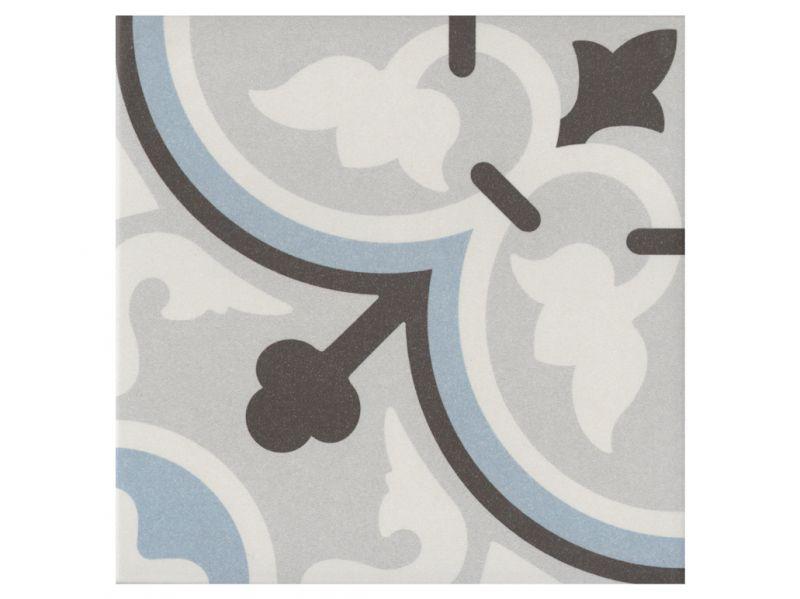 Carrelage sol et mur c ciment imitation flavie bleu 20x20 carrelage de s - Carreaux de ciment gres cerame ...