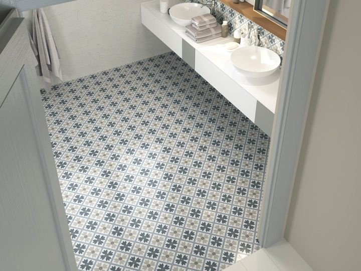 Gres cerame imitation carreau ciment maison design for Carrelage imitation ciment