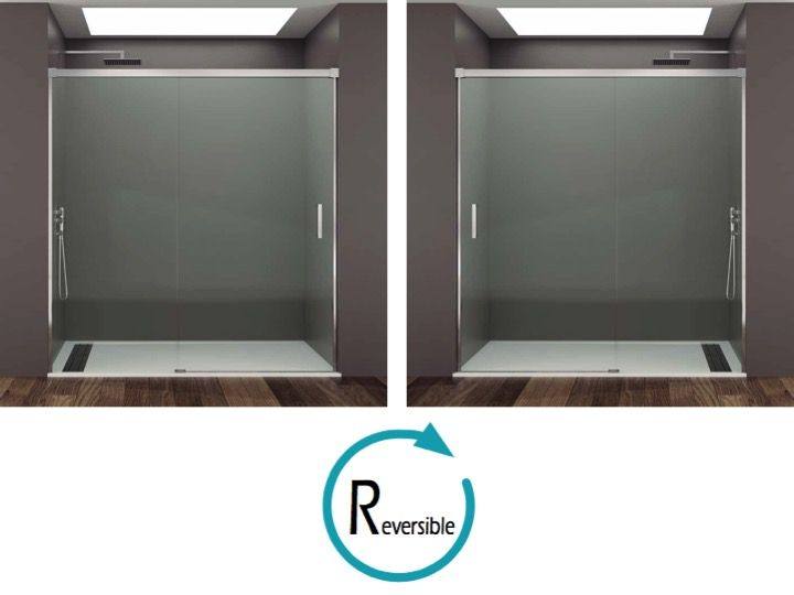 Paroi de douche longueur 140 porte de douche coulissante avec un fixe 140 x 195 cm basic - Porte coulissante 140 cm ...