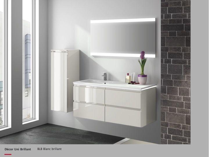 p 377939 3 meuble sous vasques suspendu 60 cm un tiroir avec poignee finition brillante gloss Résultat Supérieur 15 Meilleur De Meuble sous Vasque 60 Cm Stock 2018 Phe2