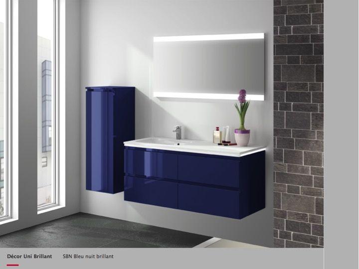 meuble salle de bain bleu fonce