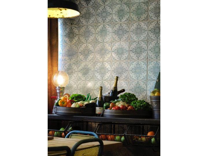 fs 3 45x45 carrelage de sol aspect carreaux de ciment. Black Bedroom Furniture Sets. Home Design Ideas