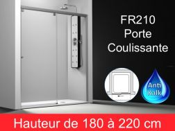 Paroi de douche largeur 120 cm 120x180 120x185 120x190 120x195 120x200 120x205 120x210 - Porte coulissante pour douche de 130 cm ...