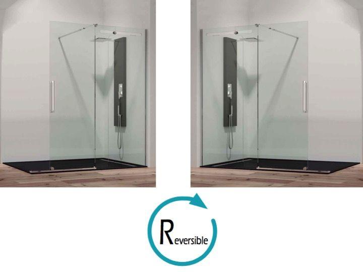 paroi de douche longueur 110 paroi de douche 111 x 200 cm 1 panneau fixe avec coulissant. Black Bedroom Furniture Sets. Home Design Ideas