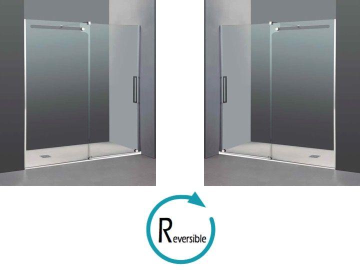 Paroi de douche longueur 115 porte de douche 115 x 200 - Porte de douche avec paroi fixe ...