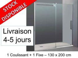 paroi de douche largeur 130 cm pour salle de bain. Black Bedroom Furniture Sets. Home Design Ideas