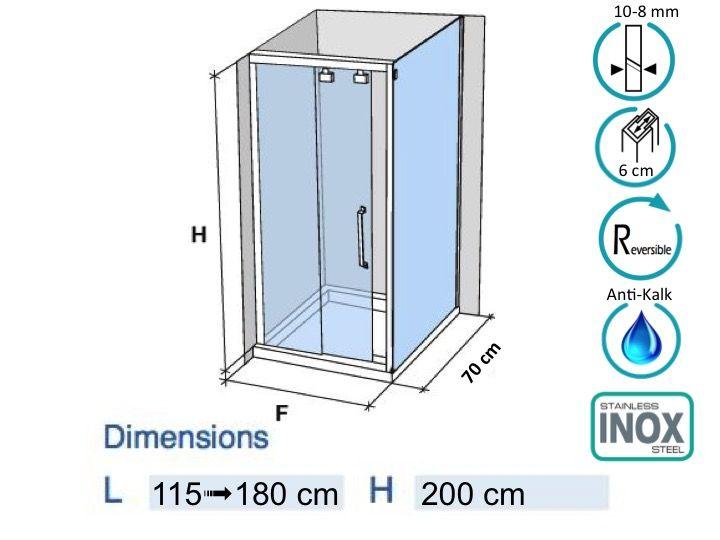 cabine de douche hauteur 200