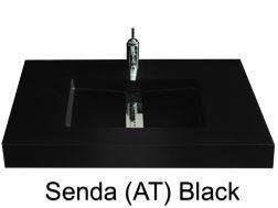 plan vasque sur mesure 130 cm plan vasques en r sine sur mesure 35x130 48x130 51x130 40x130. Black Bedroom Furniture Sets. Home Design Ideas