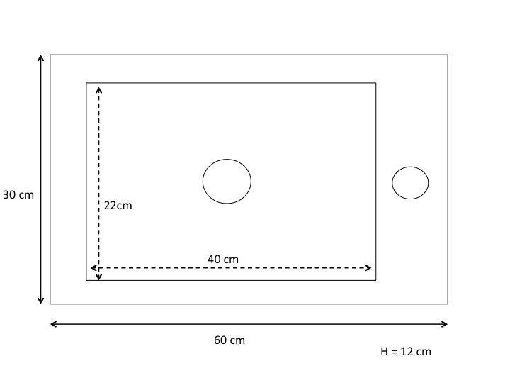 meubles lave mains robinetteries lave mains lave mains grande dimension 60 x 30 cm atenea 30. Black Bedroom Furniture Sets. Home Design Ideas
