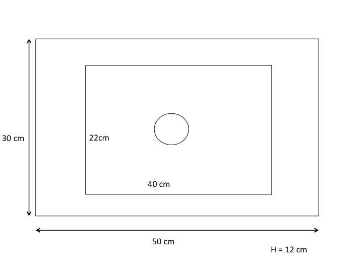Vasque de salle de bains de très petite taille, 50 x 30 cm ...