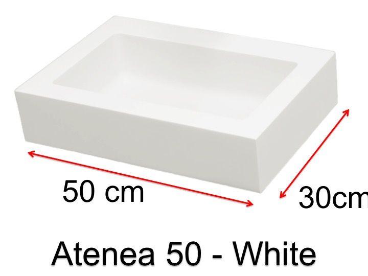 vasques largeur 50 vasque de salle de bains de tr s petite taille 50 x 30 cm atenea 50 blanc. Black Bedroom Furniture Sets. Home Design Ideas