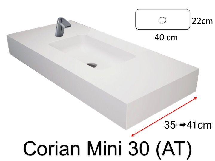 vasques corian type vasque de salle de bains de tr s petite taille 50 x 30 cm bari mini. Black Bedroom Furniture Sets. Home Design Ideas