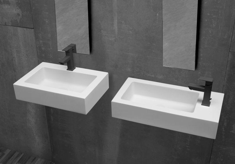 Vasque de petite taille, 50 x 40 cm, en Solid Surface type ...