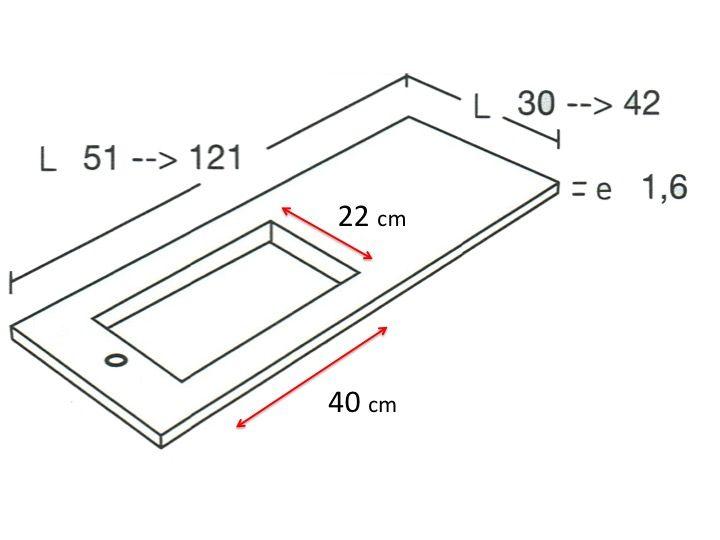 Vasque de salle de bains de très petite taille, 50 x 30 cm - HYDRA ...