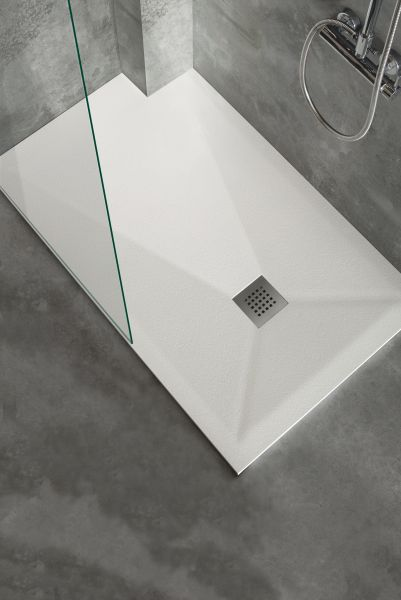 receveur de douche sur mesure 70 80 90 100 x 150 cm extra plat noir. Black Bedroom Furniture Sets. Home Design Ideas