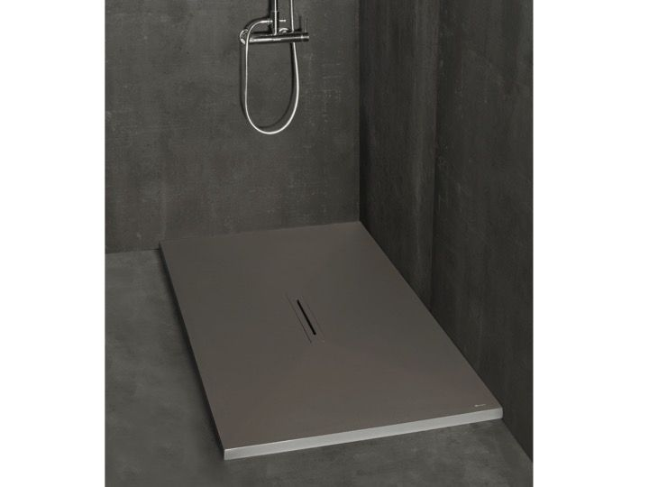 receveurs de douches longueur 120 receveur de douche vacuation centrale lin aire 70 80 90. Black Bedroom Furniture Sets. Home Design Ideas