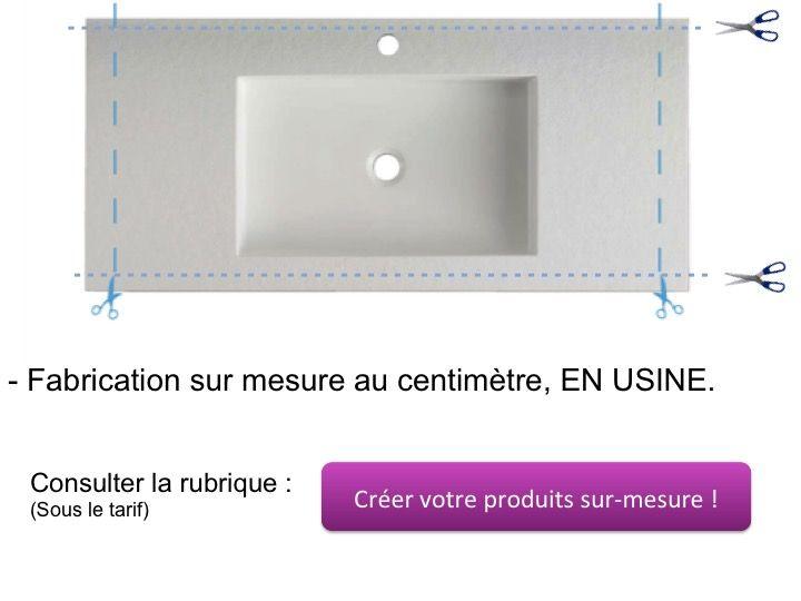 vasques largeur 110 plan de toilette avec vasque int gr e largeur 50 x 110 cm madison blanc st. Black Bedroom Furniture Sets. Home Design Ideas
