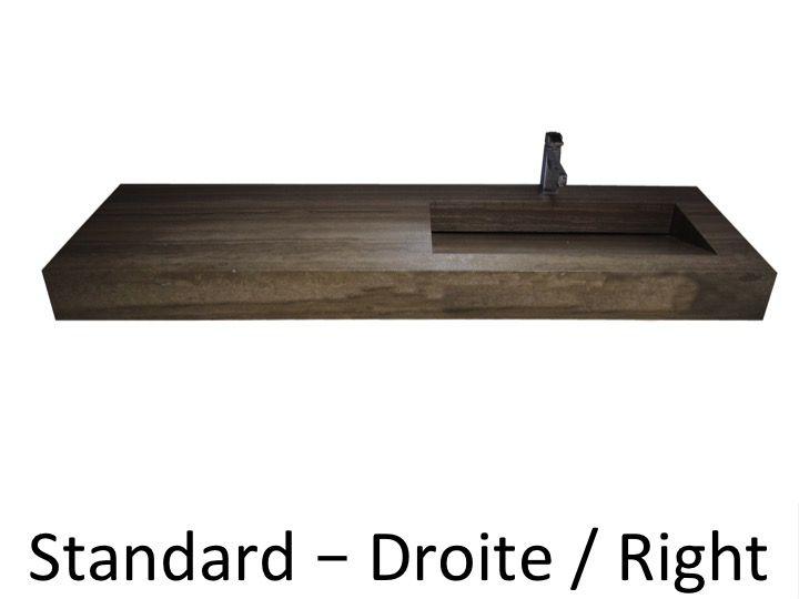 vasques largeur 100 vasque caniveau en pierre naturelle. Black Bedroom Furniture Sets. Home Design Ideas