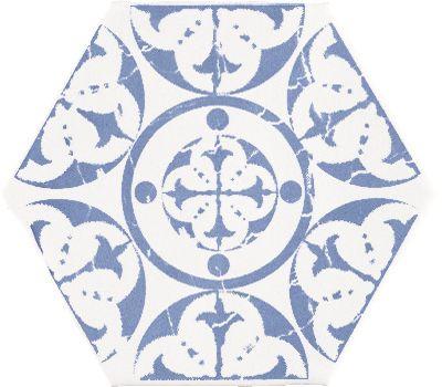 MARRAKECH AGADIR AZUL 15 x 15 cm - carrelage faïence, au style Oriental, Mauresque, ou zellige