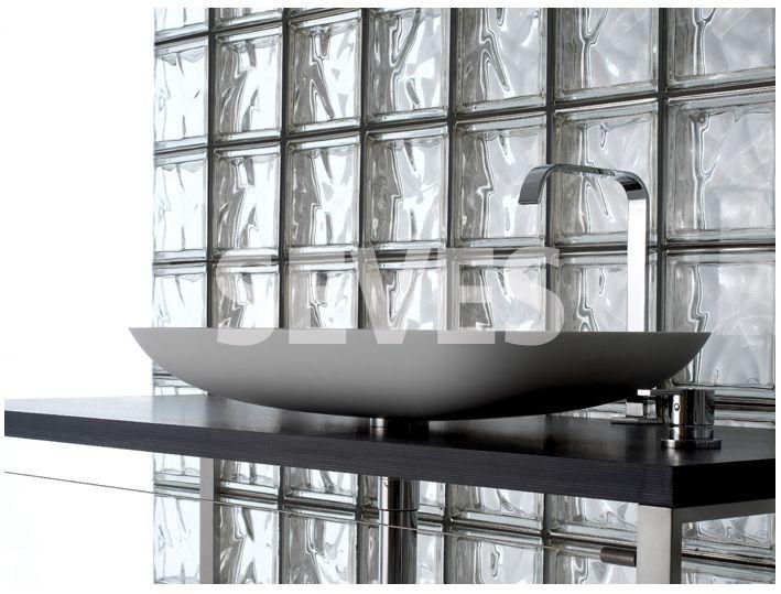 paves briques de verres neutre transparente brique de verre d 39 angle courbe pav. Black Bedroom Furniture Sets. Home Design Ideas